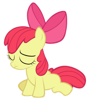 Sad day...-Apple Bloom vector 1 by CommyPink