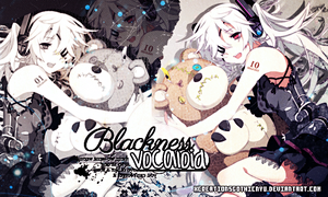 Blackness Vocaloid by xCreationsGothicNyu