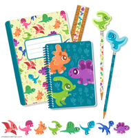 Dino Stationary by chelseyholeman