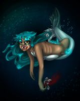 Hadal Zone Mermaid, Decaying Horror of the Deep by Nine-Tailed-Fox