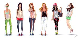 FASHION GIRLS SKETCHES VOL.2 by GrievousGeneral