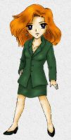 Chibi Scully colored by DanaAnderson