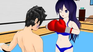Boxer girl Junko - Me and my sparring partner 06 by Girlpunchlover