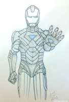 Iron Man sketch commission by stuffaeamade