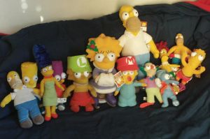 My Simpsons Plushies by MarioSimpson1