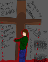 I will CLING To the Cross! Color by Twilightlover2007