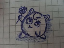 Little Jigglypuff drawing by Chakaluki