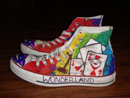Alice in Wonderland Shoes: 1 by underneath-the-paint