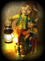 Kobolds with lantern by Gniffies