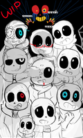 ALL DEM SANS' WIP by AmbyIsTrash