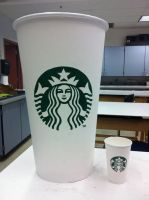Giant Starbucks cup - Front view by etodorut