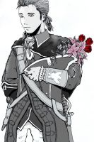 Haytham: Flowers for you... by little3fern