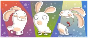 3 Little Rabbids by ZombiDJ