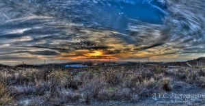 Trabuco Canyon Sunset I by pacmangeek