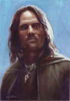 aragorn card 492 by charles-hall
