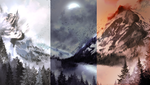 Mountain Tundra Background Pack by AlphaStryx