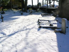 snow, churchyard oct 29th 30 by dark-dragon-stock