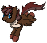 AT - Saphira in Pony Form Flying by Sonicdude645