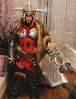 Diablo3, Barbarian:in the process by Lika-tyan