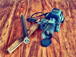 Old Canon T70 IV by schlafengehen