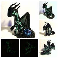 Szareth Commission Dice Dragon by LittleCLUUs