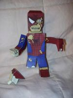 Zombie Spider-Man paper hero by SharkBomb