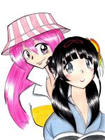 Shrine Maiden and Rock Star by Cosmic-Sugar
