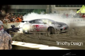 Renault megane Drift In Action by Adry53