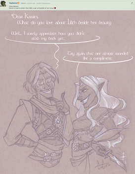 Ask My Ocs - Tricky Question by GreenOverGreen