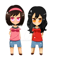Chibi Lost in time protagonists by V-Ada12