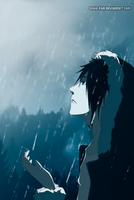 Izaya Orihara in the rain by Maio-kun