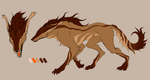 Desert wolf Adopt by Meow16305