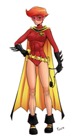 Carrie Kelly as Robin by Flick-the-Thief