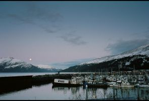 Whittier Moonrise by adriftphotography