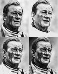 John Wayne - Ref Pic and WIPs by Rick-Kills-Pencils