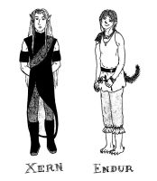 Endur and Xern by haius