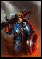 Captain America - Freedom Fighter by SteveSketches