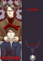 Hannibal and Will Bookmark by Alix-Aethusa