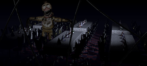Withered Chica In The Dining Area by fearlessgerm82