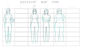 GM Supplementary task: Different Body Shapes(WIP) by Teacup-creations