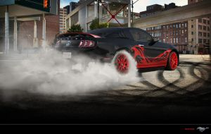 Ford Mustang Shelby GT500 Black-Red by Paho95