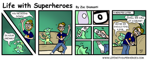 Life with Superheroes #22 by ZacAvalanche
