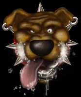 Rabid Mutt all Photoshopped Up by Captain-D