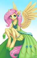 Fluttershy (Anthro) by LaurenMagpie