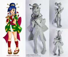 Power Stone Figurine: Ayame Prototype by chloebs