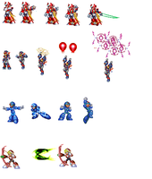 edited magamanx sprites by 100hypersonic