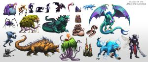 Legend of the Moon Hunter: Pixel Creatures by Tysho