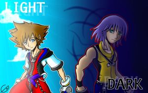 KH - 3.Light and 4.Dark by S2En-JayS2