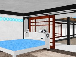 BH6 Chell's room With Bed by Xelku9