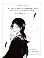 Uchiha Itachi: ''I Will Always Love You'' by NateParedes44